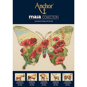 Anchor  Maia Collection - Cross Stitch Butterfly Silhouette