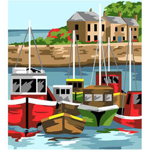 Anchor  Royal Paris Canvas: Tapestry Tranquil Harbour