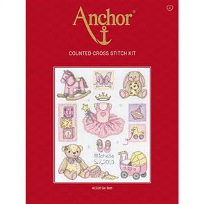 Anchor  Essential Kits: Cross Stitch Girl Birth