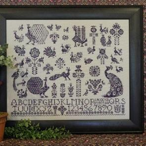 Rosewood Manor  Cross Stitch Designs - Peacocks & Posies