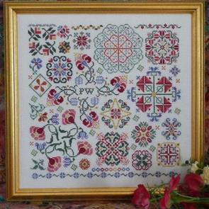 Rosewood Manor  Cross Stitch Designs - Swirling Flowers