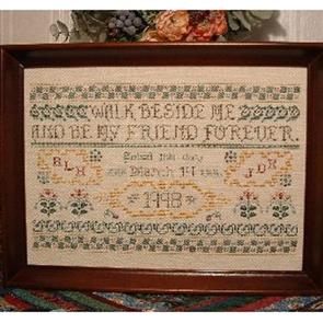 Rosewood Manor  Cross Stitch Designs - Walk Beside Me Wedding Sampler