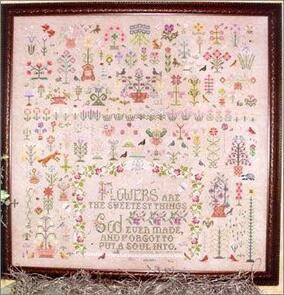 Rosewood Manor  Cross Stitch Chart - And a Garden Grew