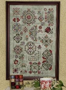 Rosewood Manor  Cross Stitch Chart - Spring Quakers