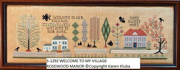 Rosewood Manor  Cross Stitch Chart - Welcome to my Village