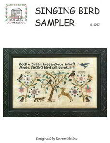 Rosewood Manor  Cross Stitch Chart - Singing Bird Sampler