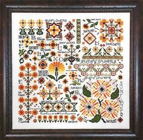 Rosewood Manor  Cross Stitch Pattern - Dreaming of Sunflowers