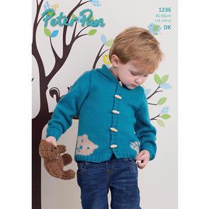 Peter Pan Childrens Hoodie in DK, 46-66cm P1236