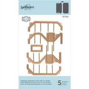 "Spellbinders  Die D-Lites - Adjustable Shadowbox Frame with 1/2"" Border"