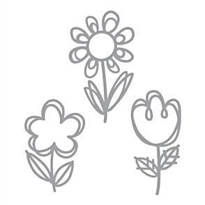 Spellbinders  Shapeabilities Die D-Lites - Sketched Blooms