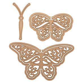 Spellbinders  Shapeabilities Dies - Flutter Wing Shadowbox Butterflies