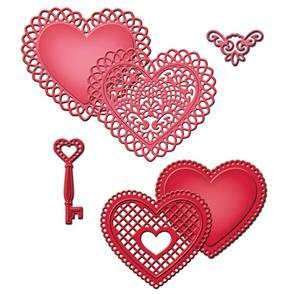 Spellbinders  Shapeabilities Dies - Lace Hearts Set