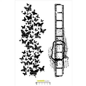 Carabelle Studio Rubber Stamp - Negative and Butterfly XXL