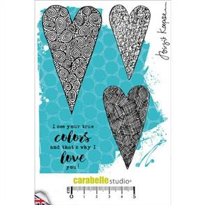 Carabelle Studio Rubber Stamps - That's Why I Love You 4/Pkg