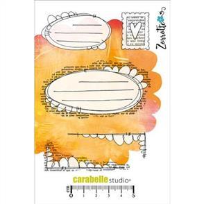 Carabelle Studio Rubber Stamps - Art, Mailing 5/pkg