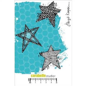 Carabelle Studio Rubber Stamp - Scribbled Stars