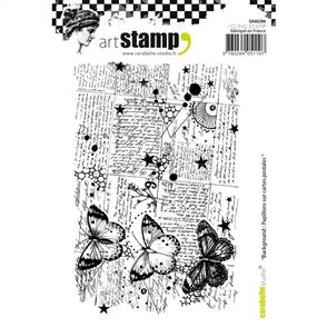 Carabelle  Studio Rubber Stamps - Background: Butterflies