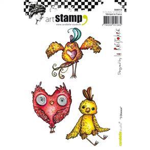 Carabelle Studio Rubber Stamps - 3 Birds