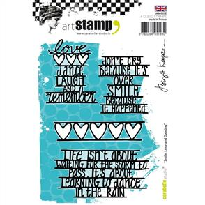 Carabelle Studio Rubber Stamps - Smile, Love & Dancing