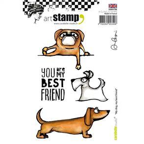 Carabelle Studio Rubber Stamp - My Dog, My Best Friend