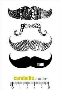 Carabelle Studio Rubber Stamp - Moustache 4/Pkg