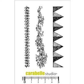 Carabelle Studio Rubber Stamp - Three Mini Strips