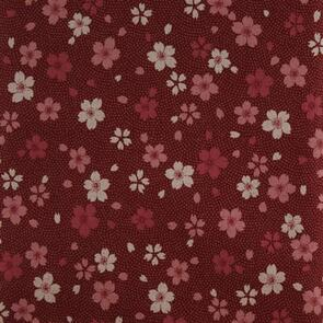 Sevenberry Oriental Floral Red