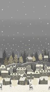 Makower Scandi Christmas - Double Border - 2363