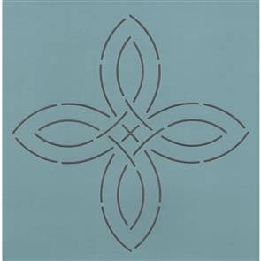 "The Stencil Company  Quilting Stencil - 5"" Vintage Pinwheel"