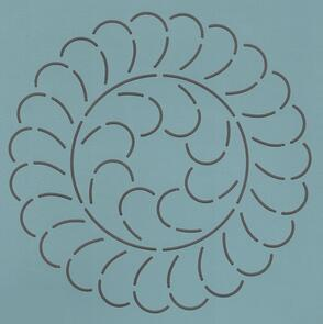 The Stencil Company Feather Wreath 6''