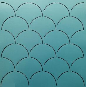 """The Stencil Company Quilting Stencil : Large Clam Shell Background 12"""""""