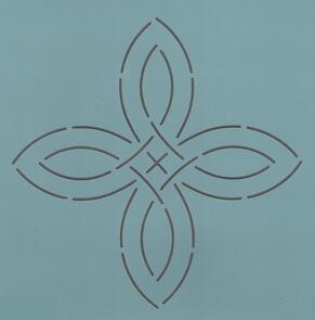 The Stencil Company Quilting Stencil - Vintage Pinwheel 9''