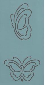 The Stencil Company  Quilting Stencil - Mini Block #61-3'' (Buterfly)
