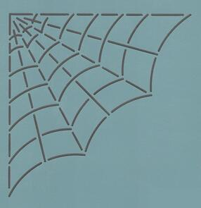 The Stencil Company CORNER SPIDER WEB 8''