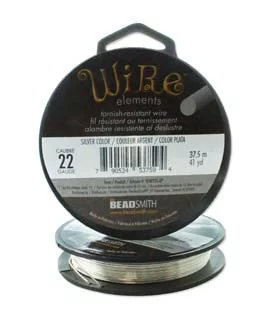 The Beadsmith Silver Plated Wire, 37.5m (41yd)