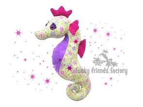 Funky Friends Factory Sparkles Seahorse Toy Sewing Pattern