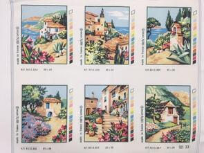 SEG De Paris  Tapestry Canvas 20X25 Village 6Pnls