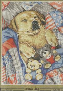 SEG De Paris  Tapestry Canvas  40 X 50 Patch Dog