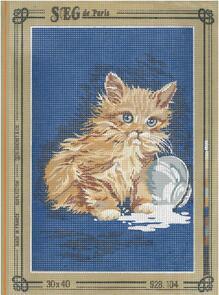 SEG De Paris  Tapestry Canvas 30X40 Cat Spilled Milk