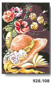 SEG De Paris  Tapestry Canvas 30X40 Hat And Book