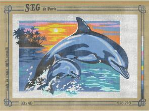 SEG De Paris  Tapestry Canvas 30X40 Dolphin