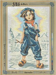 SEG De Paris  Tapestry Canvas 30X40 Gavroche