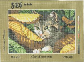 SEG De Paris  Tapestry Canvas 30X40 Autumn Cat