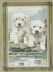 SEG De Paris  Tapestry Canvas 30X40 Duo In The Garden