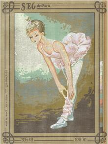 SEG De Paris  Tapestry Canvas 30X40 Ballerina