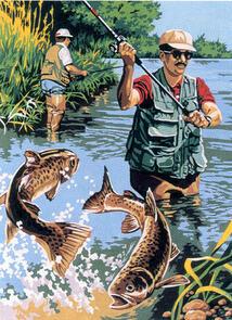 SEG De Paris  Tapestry Canvas  Fisherman
