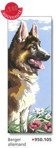 SEG De Paris  Tapestry Canvas 25X60    German Shepherd