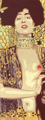 SEG De Paris  Tapestry Canvas 25X60Cm  Judith By G. Klimt