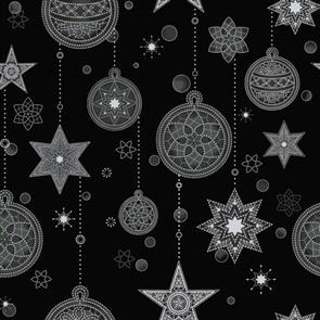 Stof Fabric  - Amazing Stars - 1801 Black