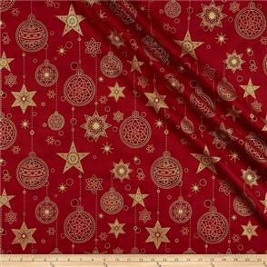 Stof Fabric  - Amazing Stars - 1801 Red
